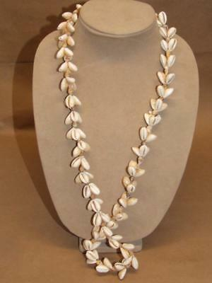 Vintage Genuine Cowry Shell 33 inch Necklace