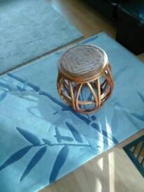 Rattan stool