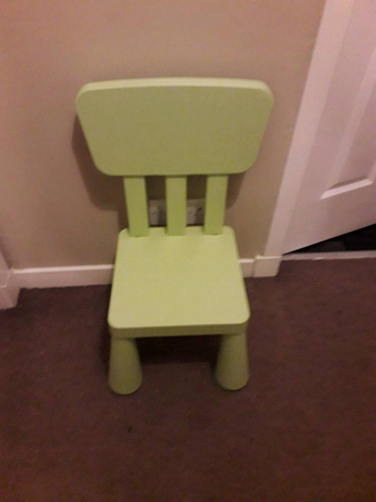 Ikea childs chair.