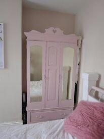 Dusty pink shabby chic wardrobe