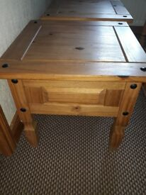 2 Mexican pine coffee tables for sale