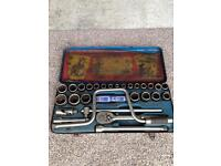 Whitworth and AF socket set