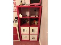 Girls tall storage unit