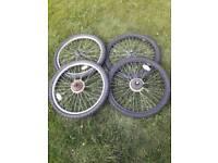 "24"" mountain bike wheels free to a good home"