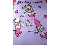 Girls Single Quilt cover and matching Curtains