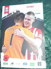 THREE STOKE CITY HOME PROGRAMMES x 2 v LIVERPOOL & CHELSEA 2015/16 & 1 v MAN CITY 2014/15
