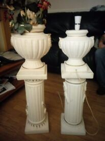 Similar Lamp and Vase with Stands