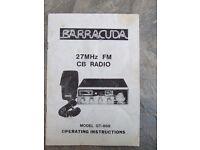 BARRACUDA CB ORIGINAL MANUAL CONDITION AS SEEN ... USED
