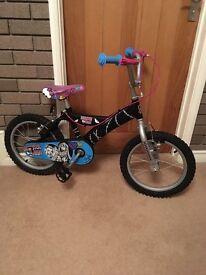 Monster High Kid's Bicycle - immaculate condition - hardly used