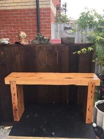Reclaimed pitch pine bench