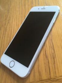 Unlocked iPhone 6 (16GB), silver, amazing condition!