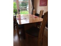 Stunning set of Dining table with 6 chairs + matching sideboard (tulipwood)