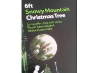 6ft Snowy Mountain Christmas Tree