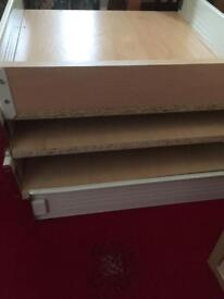 4 kitchen draw boxes with fixings