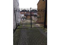 Top quality wrought iron double garden gates