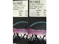 Sat 2nd July Wembley Beyoncé tix AMAZING SEATS 2nd row back seating
