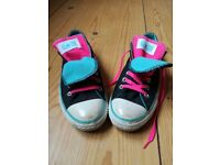 2 pairs of Double-tongued Converse (ladies size 6), £15 each