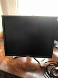 """Dell LCD 19"""" flat screen PC/Laptop monitor and cable"""