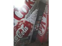 shop size coke a cola display drinks fridge