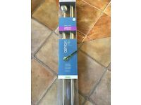 New in sealed packaging 240cm 'silver' curtain pole