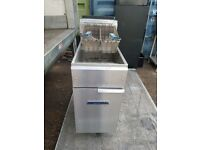 IMPERIAL single tank twin basket 3 burner gas fryer double NAT gas chips fryer perfectly working