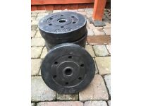 Six 5 kg Weight plates for 28mm bar