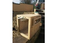 2 x Animal shipping crates/rabbit/guinea pig hutches