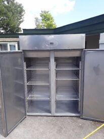 Free stainless steel freezer double door commercial catering equipment Restaurant refrigeration