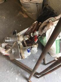 Assorted Copper pipes + scrap metal