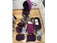 Stokke Xplory v3 Purple Travel System Buggy REDUCED