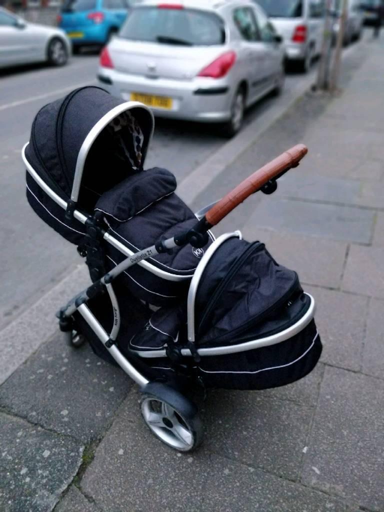 Kids cargo twins pushchair