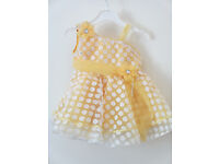 Brand New Party Girls Dress lemon White