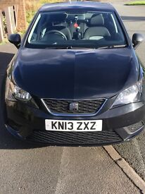 2013 Black Seat Ibiza S 1.2 5dr/AC Sat Nav and Bluetooth