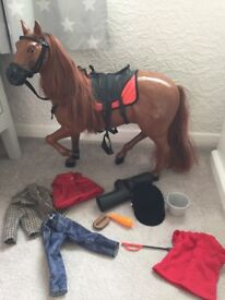 Sindy horse and outfit