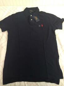 Ralph Lauren Collared Polo T-Shirt Small Navy BNWT