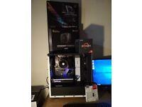 editing, gaming PC, AMD Ryzen 1600, Asus Rog Strix B350-f AM4, 8GB DDR4, 240GB SSD, 80+ Gold, NO GPU