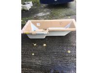 Brand new L shaped bath