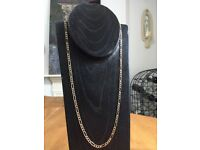 9ct 9k solid gold mens ladies necklace (curb chain)