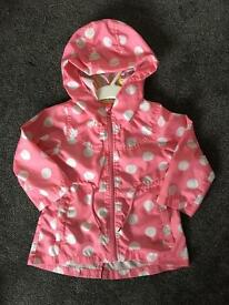 Girls polka dot coat 18-24 months