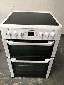 Beko White 60cm electric cooker