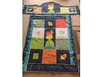 COT/COT BED SET:QUILT, BUMPER, COT TIDY, CURTAINS, MUSICAL MOBILE