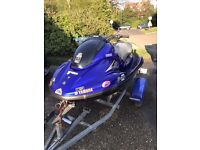 JET SKI JETSKI YAMAHA 1300GP GORGEOUS CLASSIC YAMAHA BLUE WITH MATCHING GRAPHICS WITH ROAD TRAILER