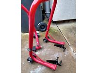 Universal Motorcycle Paddock stands hardly used,Front and Back