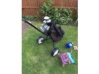 Memphis Firestar Golf Clubs , bag , trolley and extras