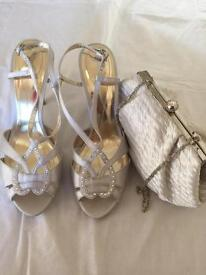 Monsoon shoes and clutch bag new
