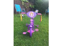 Brand new Sofia the first bike for sale!!!!