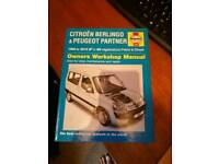 Citroen Berlingo/Peugeot Partner Haynes Manual
