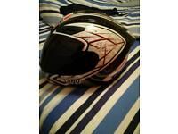 Agv k4 helmet large with dark and clear visor