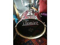 Premier Artist Birch 5 piece drum shell pack, immaculate