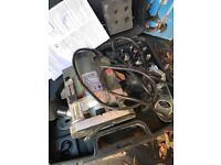 Job lot of garage stuff! Plunge router, B&D drill guide, Bosch cordless screwdriver, hoover & light